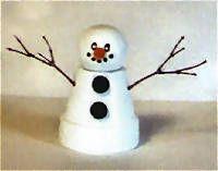 Reindeer Clay Pot Craft   Flower Pot Snowman Craft