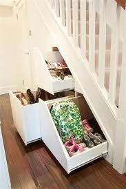 All bags & shoes hidden away in this clever understairs unit..