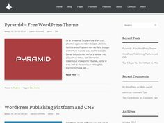 Pyramid is a simple and clean WordPress theme by ThemeLeopard.com that includes post thumbnails, custom menus and much more. The options panel is easy to understand with a minimal set of options. You would absolutely love to built your site using Pyramid theme.