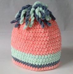 Dětská čepice - barvy duhy, meruňková