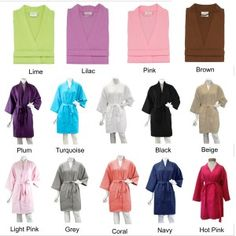 """This Personalized Bridal Party Waffle Weave Robe looks adorable in """"getting ready"""" pictures he day of the wedding."""