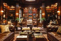 The Perfect Library...indeed ! The library at Wayne Manor from the new TV show Gotham.