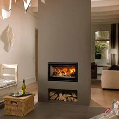 double sided wood burner - Google Search