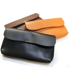 Vegetable tanning leather wallet, made in Japan.