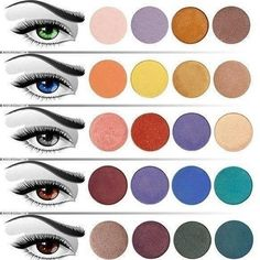 Eyeshadow guide for your eye color!