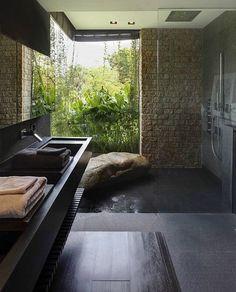 Bathroom with nature views (Aamer Architect's) #architectureoskar