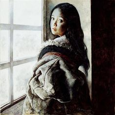 Girl At The Window by Ai Xuan