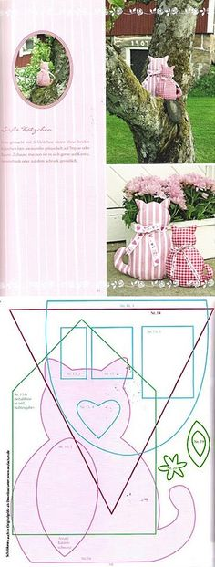 make cat cloth: the pattern here | realizza il gatto di stoffa: il cartamodello. #DIY #lavorimanuali #FaiDaTe #FDT