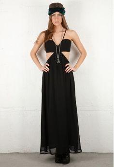 Style Stalker Wild Side Maxi Dress in Black