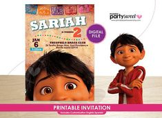 Coco Invitation / Disney Coco Birthday Party Invitation