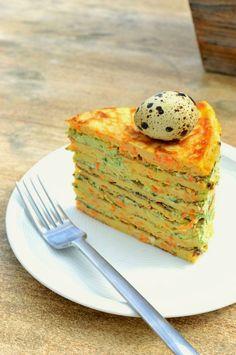 Möhrenoancake-Torte Go Veggie, Avocado Toast, Veggies, Eat, Spring, Breakfast, Food, Pies, Kuchen