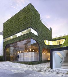 #architecture I wonder if this is organic and it changes with the seasons. Interesting concept.