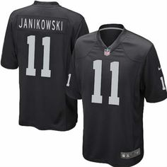 Youth Nike NFL Oakland Raiders #11 Sebastian Janikowski Game Team Color Black Jersey $59.99