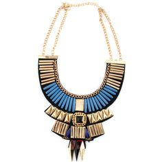 Collections by Hayley Blue Aztec Statement Necklace ($33) ❤ liked on Polyvore featuring jewelry, necklaces, blue, wrap necklace, blue heart necklace, heart shaped necklace, blue jewelry and heart necklace