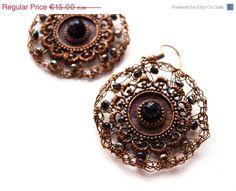 Brown wire wrapped earrings, seed bead earrings, spring earrings, april earrings, bead earrings seed, round earrings, circle earrings