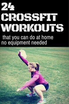 CrossFit Workouts at Home: You can do these 24 workouts anywhere!  #fitnessworkouts