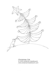 Free Christmas Cat Pattern from Anderson Embroidery