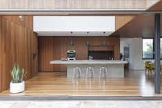 15 Inspirational Examples Of Kitchens With Concrete Countertops. 6. This kitchen island in a home in Sydney, Australia, designed by MCK Architects.