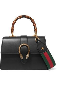 Gucci - Dionysus Bamboo Medium Leather Tote - Black - one size