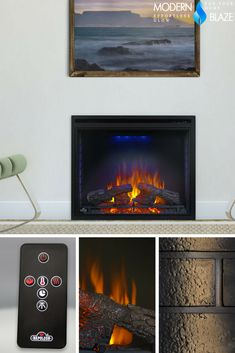 The Napoleon Ascent 33 Electric Firebox Imitates Look Of A Traditional Masonry Fireplace But