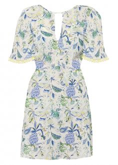 Matthew Williamson's PF15 Lemon Pineapple Paisley Print Dress. Click to shop the look.