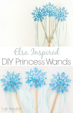 DIY Wand Craft : Elsa Inspired - Crafts Unleashed - a.a - DIY Wand Craft : Elsa Inspired - Crafts Unleashed Make an Elsa Inspired DIY Princess Wand with Simply Designing and Crafts Unleashed - Disney Diy, Disney Crafts, Disney Frozen, Princess Wands, Princess Party, Princess Gifts, Frozen Birthday Party, Birthday Parties, Frozen Party Favors
