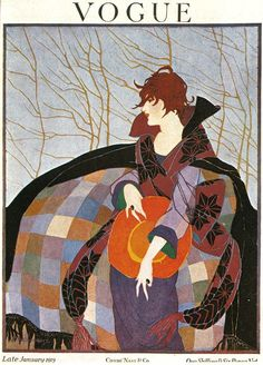 Vogue UK Cover - January 1919 - Illustration by Ethel Rundquist - Condé Nast…