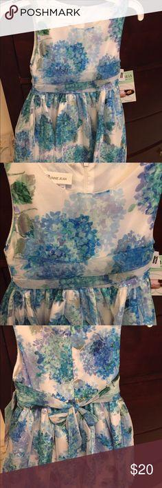 New Floral  dress Pretty blue floral dress, Bonnie Jean Dresses Formal