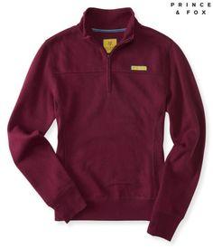 Prince & Fox Solid Half Zip Sweatshirt - Aeropostale