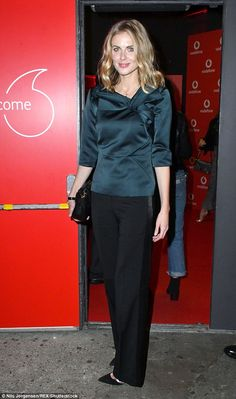 Donna wasglowing as she stepped out for a Vodafone event in London's Bankside Vaults attended by stars including rapper Professor Green, Olympian Tom Daley and designer Henry Holland