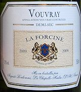 Auguste Bonhomme Vouvray Demi Sec La Forcine 2009 - absolutely one of the best white wines I've ever had...