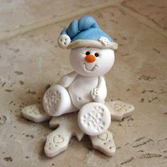 *SNOWBABY ~ on a snowflake by Clayin' Around, via Flickr