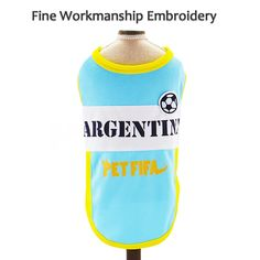 Besmall Dog Tshirt Costume Sport Jersey Pet National Flag Football Soccer World Cup FIFA Argentina L * Be sure to check out this incredible item. (This is an affiliate link). National Flag Football, Fifa Ps4, Soccer World, Football Soccer, World Cup, The Incredibles, Costume, Dog, Link