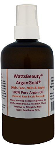 Watts Beauty ArganGold 100 Pure Argan Oil for Hair Nails Face  Body  All Natural Virgin Argan Oil Direct From Morocco 4oz * Continue to the product at the image link.