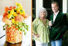 Savannah Style: Candy Corn Centerpiece