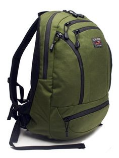 The TOM BIHN Synapse Backpack in Olive/Solar