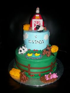 Farm Animals decorated cake