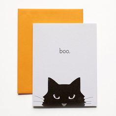 Halloween Card - Boo Halloween Cat