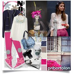"""""""Pink and Blue"""" by pribortolon on Polyvore"""