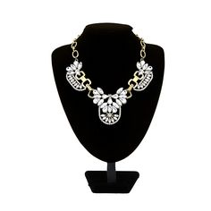 Wanna be attractive on Christmas Day? This #CrystalNecklace would be your nice accessory. Shining rhinestone makes you eye-catching. You will be the most charming woman when you wear it. Look more:>>>>>>>
