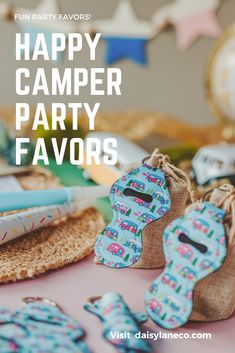 Cute camper keychains are the perfect happy camper party favor. Hang them on the outside of glamping goodie bags or add a lip balm for a complete favor. Display on a table to add to your glamping party decorations for your guests to grab. Each retro camper keychain holds a standard tube of lip balm. Camper design fits in perfectly with a camping party, a retro party and a road trip. From a camper birthday party for kids to a bachelorette road trip these party favors will compliment any…