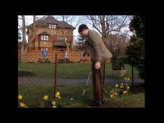 Bean - Tee Off Mr. Bean The first Mr. Bean sketch I ever saw Johnny English, Blackadder, Comedy Skits, Mr Bean, British Comedy, Television Program, Stand Up Comedy, Drama Queens, Just For Laughs