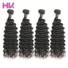 Hair Villa Brazilian Deep Wave Virgin Hair Bundles 100g Human Hair Weave Bundles For Salon Longest Hair PP 20% Free Shipping