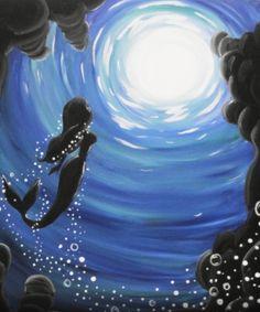 Mermaid paint night