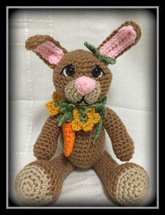 Crocheted Easter bunny Find it @ etsy/shop/memawscountrycrafts.com