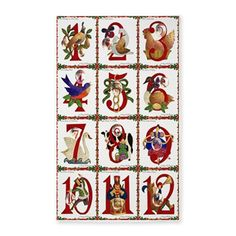 12 Days Of #Christmas Area #Rug #AreaRug #HomeDecor #12DaysChristmas #HolidayDecor   You can find additional products with this design at my store http://www.cafepress.com/leehillerdesigns/12696121