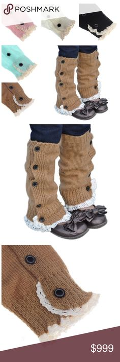 COMING SOON Toddler Girl Boot Cuffs Toddler girl crochet knitted lace boot cuffs. Available in Khaki and Grey. These are one Size. Length 32cm. Width 9-14cm. Other colors available per request. Bundle items and save✨ Accessories Socks & Tights