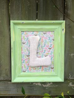 Upcycled Shabby Chic Personalized Monogrammed Colorful Birds Distressed Picture Frame Child Baby Room Decor via Etsy. Use for off at Shabby Lily. Distressed Picture Frames, Colored Burlap, Shabby Chic Wall Decor, Child Baby, Bedroom Vintage, Colorful Birds, Baby Room Decor, Diy Projects To Try, Painting Frames