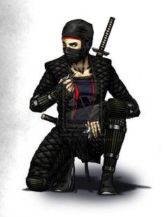 Ninja the woman by ~ANDREYGORKOVENKO on deviantART