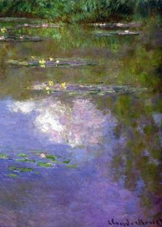 Artist: Claude Monet, 1840-1926   French Impressionist Master Painter  Title: Water Lilies, The Clouds  Completion Date: 1903  Style: Impressionism  Series: Water Lilies  Genre: flower painting  Dimensions: 74.6 x 105.3 cm , from Iryna